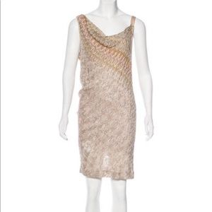 Missoni metallic dress with scooped back